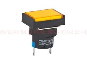 渭南LAY5s-16 1NO+1NC 灯钮自复 矩形头 6V 黄