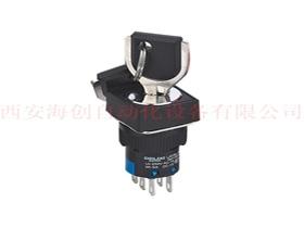 渭南LAY5s-16 2NO+2NC 钥匙钮3位自锁 方头 黑